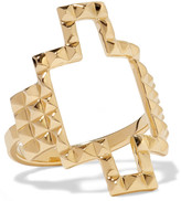 Elizabeth and James Kota gold-tone ring