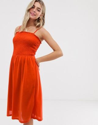 JDY smock cami dress-Orange