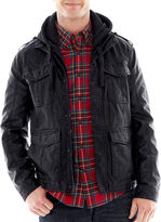 JCPenney ROGUE STATE Rogue State Hooded Faux-Leather Jacket