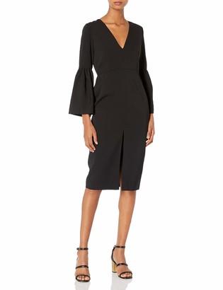 Jill Stuart Jill Women's V Neck Dress with Bell Sleeves