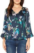 Willow & Clay Women's Crinkle Floral Top
