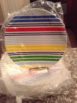 Martha Stewart Collection Stripe Melamine Salad Plates Set Of 8