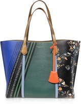 Tory Burch Printed Leather Perry Triple-Compartment Tote