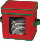Household Essentials Red Holiday Saucer Chest + Green Trim