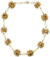 Chanel Pre Owned 1980's baroque pearl embellished necklace