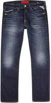 Replay Waitom Dark Blue Straight-leg Jeans