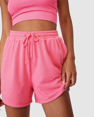 Cotton On Body Active - Women's Pink High-Waisted - Lifestyle On Ya Bike Fleece Shorts - Size XS at The Iconic