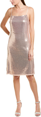 Jason Wu Sequined Silk-Trim Sheath Dress