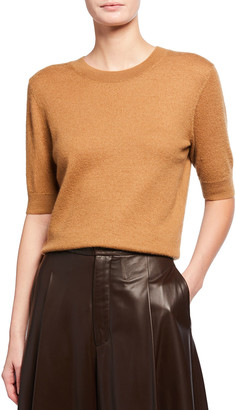 Vince Short-Sleeve Cashmere Sweater