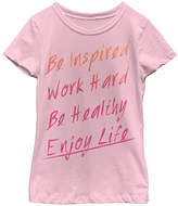 Fifth Sun Pink 'Be Inspired Enjoy Life' Tee - Toddler & Girls