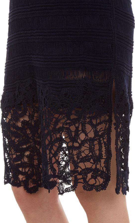 Thakoon Knit & Lace Cami Dress