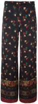 Etro multi print loose fit trousers