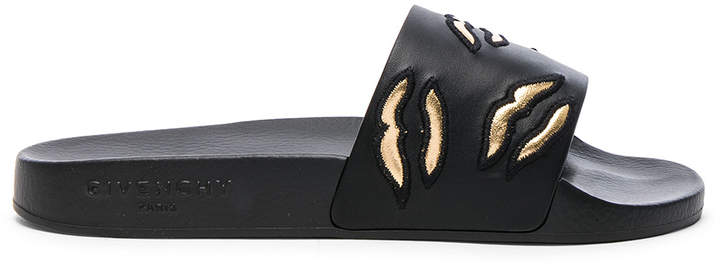 Givenchy Rubber Lip Embroidered Slides