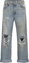 R 13 Catherine Distressed Knee Boyfriend Jeans