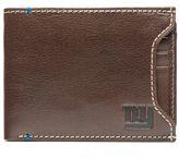 JACK MASON Jack Mason NFL New York Giants Stadium Leather Sliding 2-in-1 Wallet in Brown