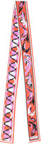 Emilio Pucci geometric print skinny scarf