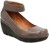 Clarks Clarene TideLeather Ankle Strap Ortholite Pumps
