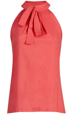 New York & Co. Tie-Neck Halter Linen Blouse