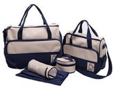 Kylin Express Functional Waterproof Diaper Tote Bags For Mummy With 5 Pieces Set Deep Blue
