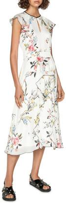 Cue Oriental Blossom Midi Dress