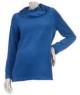 Denim & Co. As Is Long Sleeve Velour Cowl Neck Tunic