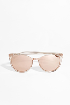 Linda Farrow Luxe Rose Gold Half Rim Sunglasses