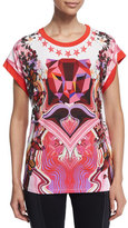 Just Cavalli Variant Tiger Rock Tee, Fuchsia