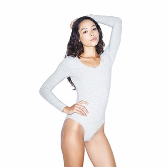 American Apparel Women's Cotton Spandex Long Sleeve Scoop Back Bodysuit