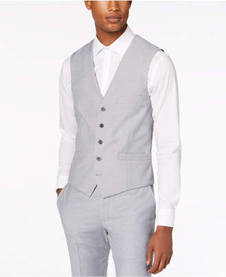 INC International Concepts Inc Men Slim-Fit Gray Suit Vest