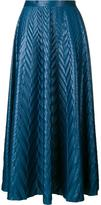 Golden Goose Deluxe Brand chevron print long skirt
