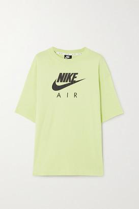 Nike Air Printed Cotton-jersey T-shirt - Bright green