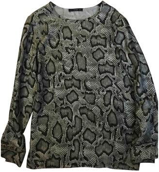 Etro Khaki Silk Top for Women