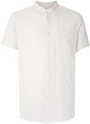 OSKLEN Band Collar Gauze shirt
