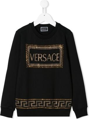 Versace Embellished Logo Sweatshirt