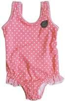 XUNYU Baby Girls Cute Polka Dot Ruffle Tankini One Piece Swimsuit Rashguard Swimwear