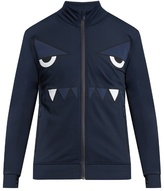 Fendi Bag Bugs Zip-through Nylon Sweatshirt