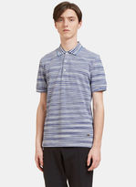 Missoni Men's Striped Knit Polo Shirt In Blue