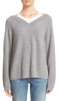 Alexander Wang Women's Layered Merino Wool Pullover