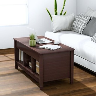 Red Barrel Studio Lift Top Coffee Table with Storage Table Top Color: Coffee, Table Base Color: Coffee