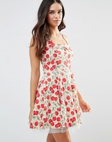 Iska 50'S Cherry Print Skater Dress
