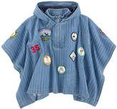 Stella McCartney Jean poncho with patches - Tambourine