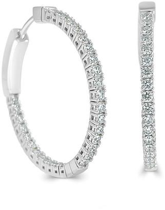 Sabrina Designs 14K 1.09 Ct. Tw. Diamond Inside Out Hoops