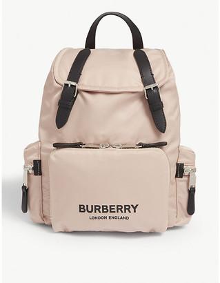 Burberry Logo-printed medium backpack