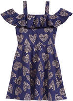 Epic Threads Heart-Print Cold Shoulder Dress, Little Girls, Created for Macy's