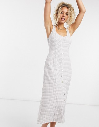 Emory Park dress with button down front in check