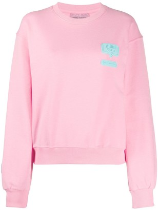 Chiara Ferragni logo patch sweatshirt