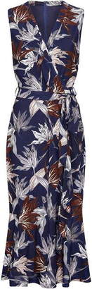 Yumi Abstract Print Midi Dress