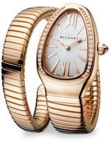 Bvlgari Serpenti Rose Gold & Diamond Single Twist Watch