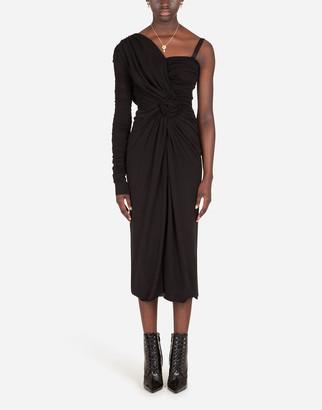 Dolce & Gabbana One-Shoulder Jersey Dress