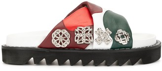 Toga Pulla Studded Colour-Block Slides